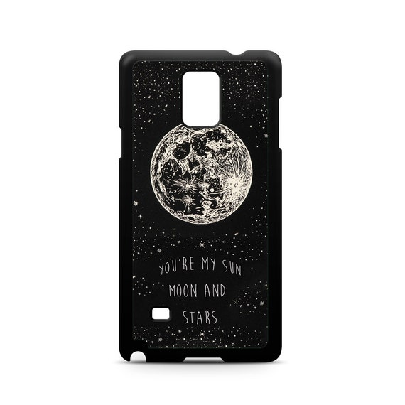 Romantic You're My Sun Moon and Stars Love Quote for Samsung Galaxy Note 9, Note 8, Note 5, Note 4, Note 3 Phone Case Phone Cover
