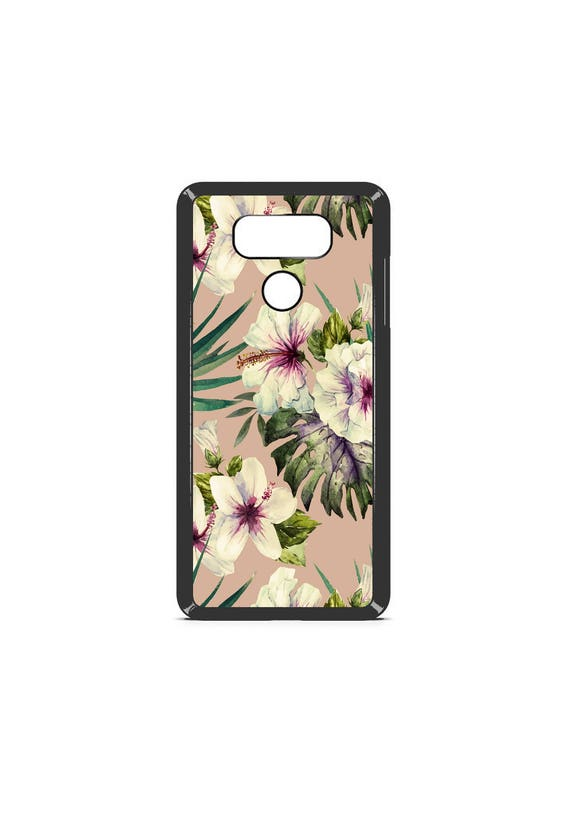 LG Case Gold Hibiscus Painting LG G5 Case LG G6 Case Phone Case lg phone case g5 case g6 case Phone Cover floral phone case summer phone