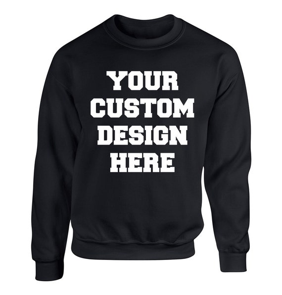 Make Your Custom Unique Design Adult Unisex Sweater Crewneck Sweatshirts Warm Sweaters Crewneck Women Clothing Men Clothing Mothers Day Gift