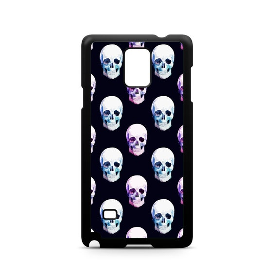 Trendy Watercolor Skull Pattern for Samsung Galaxy Note 9, Note 8, Note 5, Note 4, Note 3 Phone Case Phone Cover