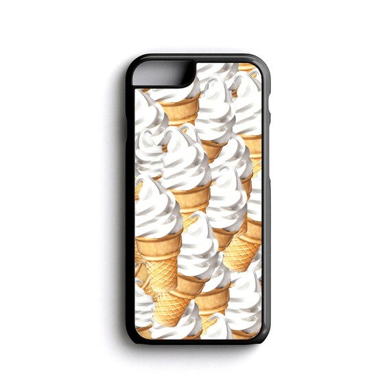 iPhone Case Dollar Ice Cream Cone For iPhone 4, iPhone 5, iPhone 5c, iPhone 6, iPhone 6 Plus w/ FREE iPhone Tempered Glass Screen Protector*