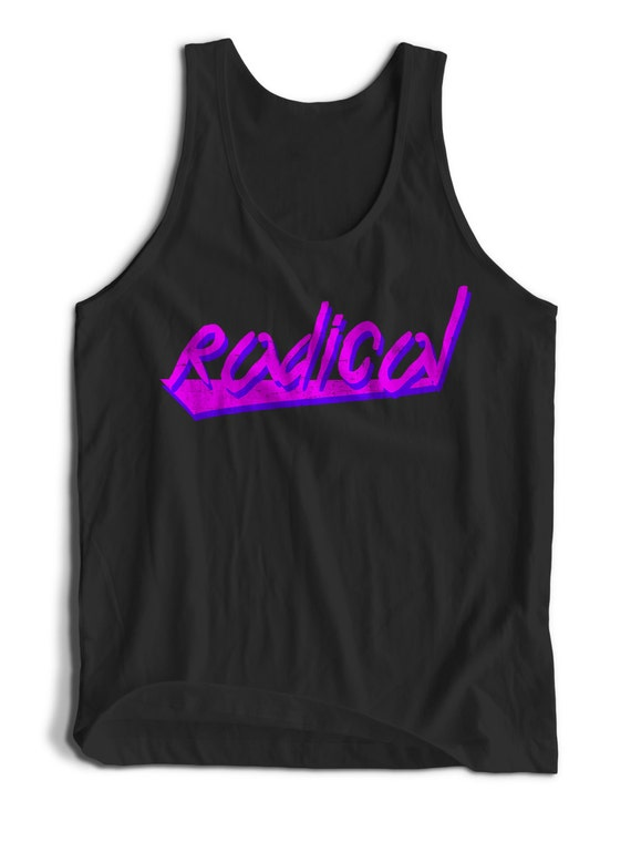 Radical Rad 80s Retro Vintage Men Women Teens Unisex Adult Apparel Tank Top Summer Clothing Assorted Colors Tanks Colorful Tank Tops