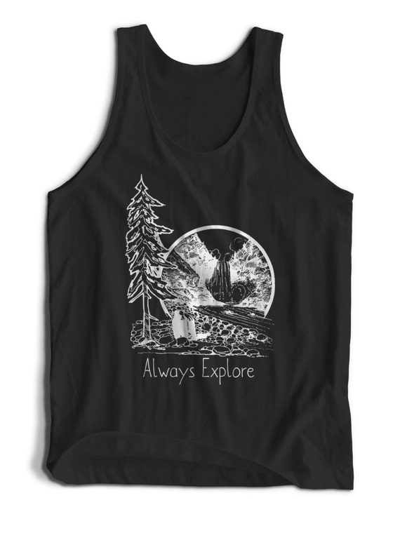 Explore National Parks Quote Outdoor Campers for Men Women Teen Unisex Adult Apparel Tank Top Summer Clothing  Assorted Color Tanks Colorful