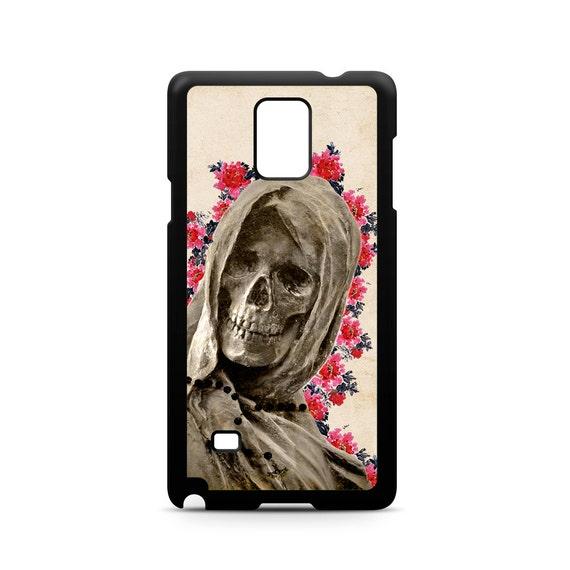 Floral La Santa Muerte for Samsung Galaxy Note 9, Note 8, Note 5, Note 4, Note 3 Phone Case Phone Cover Skeleton Death skull