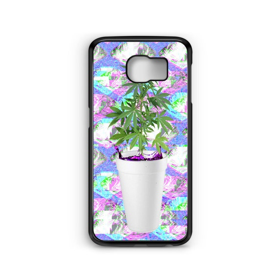 Sizzurp and Weed Seapunk For Samsung Galaxy S9 Plus, S9, S8 Plus, S8, S7 Edge, S7, S6 Edge Plus, S6 Edge, S6, S5, S4, S3 Phone Case