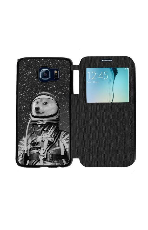 Unique Trendy Doge Dressed As An Astronaut for Samsung GalaxyS6, S6 EDGE, S7 and S7 EDGE Flip Case