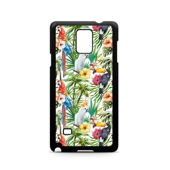 Floral Tropical Parrot Toucan Birds Pattern for for Samsung Galaxy Note 9, Note 8, Note 5, Note 4, Note 3 Phone Case Phone Cover