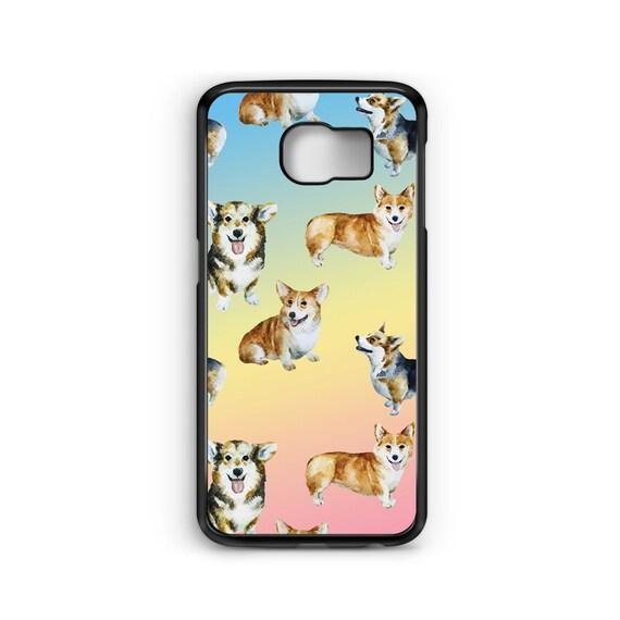 Cute Corgi Pastel Pattern For Samsung Galaxy S9 Plus, S9, S8 Plus, S8, S7 Edge, S7, S6 Edge Plus, S6 Edge, S6, S5, S4, S3 Phone Case