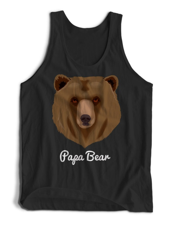 Papa Bear Best Dad Fathers Day Gift Men Women Teens Unisex Adult Apparel Tank Top Summer Clothing Assorted Colors Tanks Colorful Tank Tops