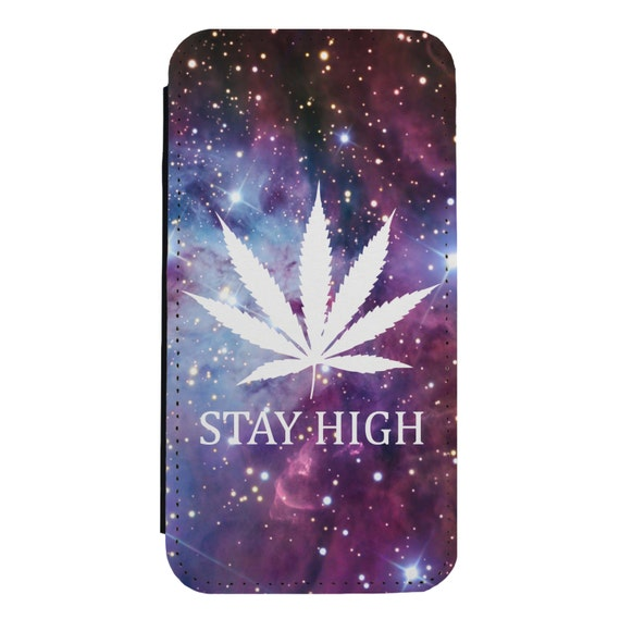 Stay High Nebula for iPhone 5/5s/SE 6/6s 6/6sPlus 7/7Plus 8/8Plus X Samsung Galaxy S6/S6Edge S7/S7Edge S8/S8Plus Wallet Case