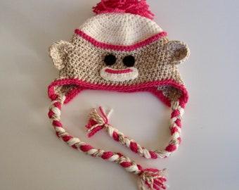 Sock Monkey Hat Pattern Pattern Digital