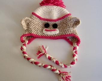 Pattern Digital - Sock Monkey Hat Pattern