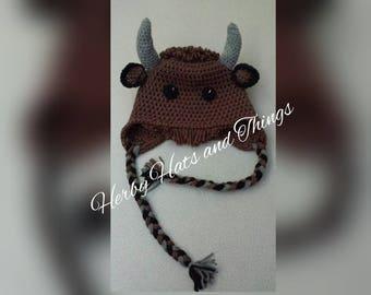 Pattern Digital - Bobby the Bison Hat Pattern