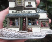 Lilliput Lane - Haberdashery Victorian Shop - Building - House - Handmade England - Boxed -Deed -