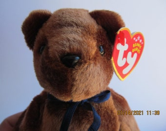 TY Beanie Baby TED-e  Old Face Brown Bear Plush stuffed animal collectible toy