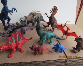 Dinofly Decoration Prehistoric Toy Decor  Repurposed Vintage Dinosaur  Colorful Collectible Weird Stuff with Butterfly Wings