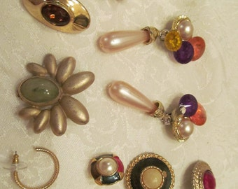 Earrings mixed lot costume  Jewelry  10 pieces