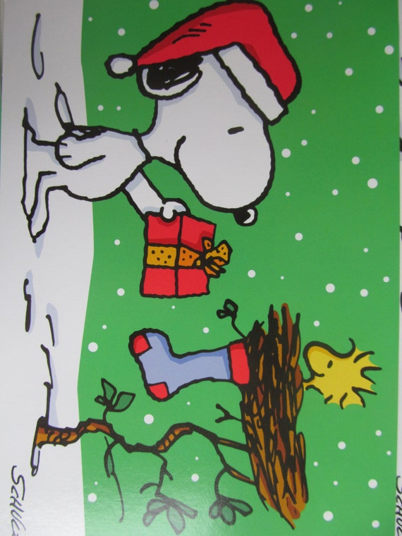 Snoopy Christmas Cards.Snoopy Christmas Greeting Cards Lot Of 3 With Envelopes Vintage Cards