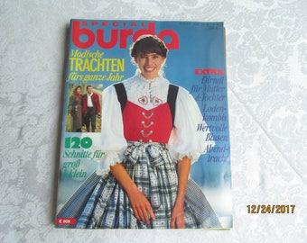 Burda  - Sewing Pattern - Back issue  Magazine -unused   12//89