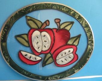 Sun Catcher  Kitchen - Window  Home  decoration -  Apples   Glass Display