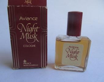 Night Musk Cologne  - Aviance - Vintage Men - Musk - Cologne -Prince Matchabelli -.34 Fl.oz