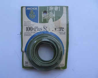 Anchor// Wire// Galvanized// Plastic //Coated//Vintage //Home//Office//30 feet