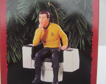 Hallmark  Ornament   1995  Captain James T - Kirk  QXI  5539