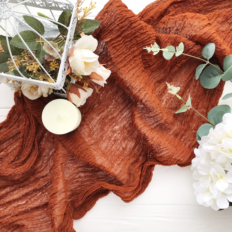 Terrakotta Tischläufer Hochzeit