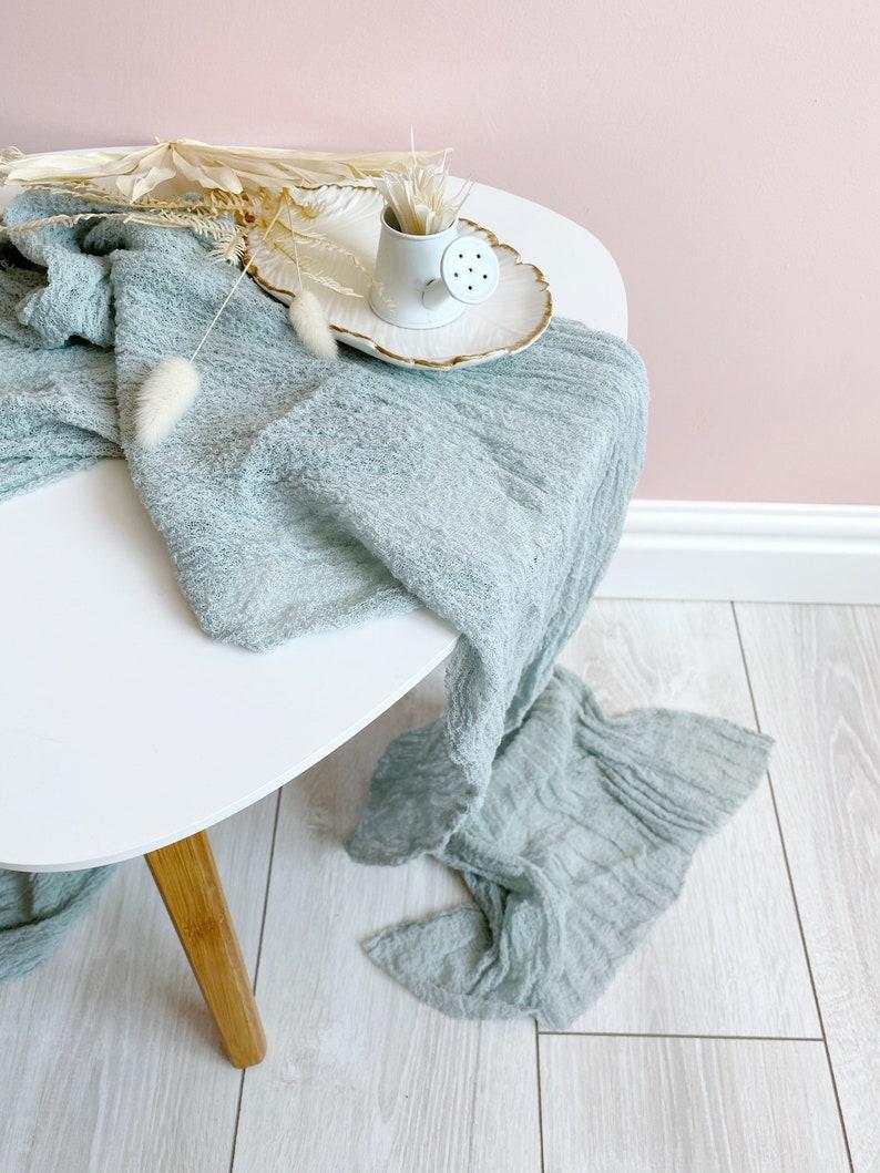 Wrap Blanket in MIST color ECO wrap Newborn photography wrap Custom baby wrap cotton