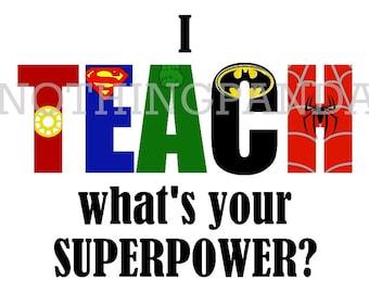 Superpower teacher | Etsy