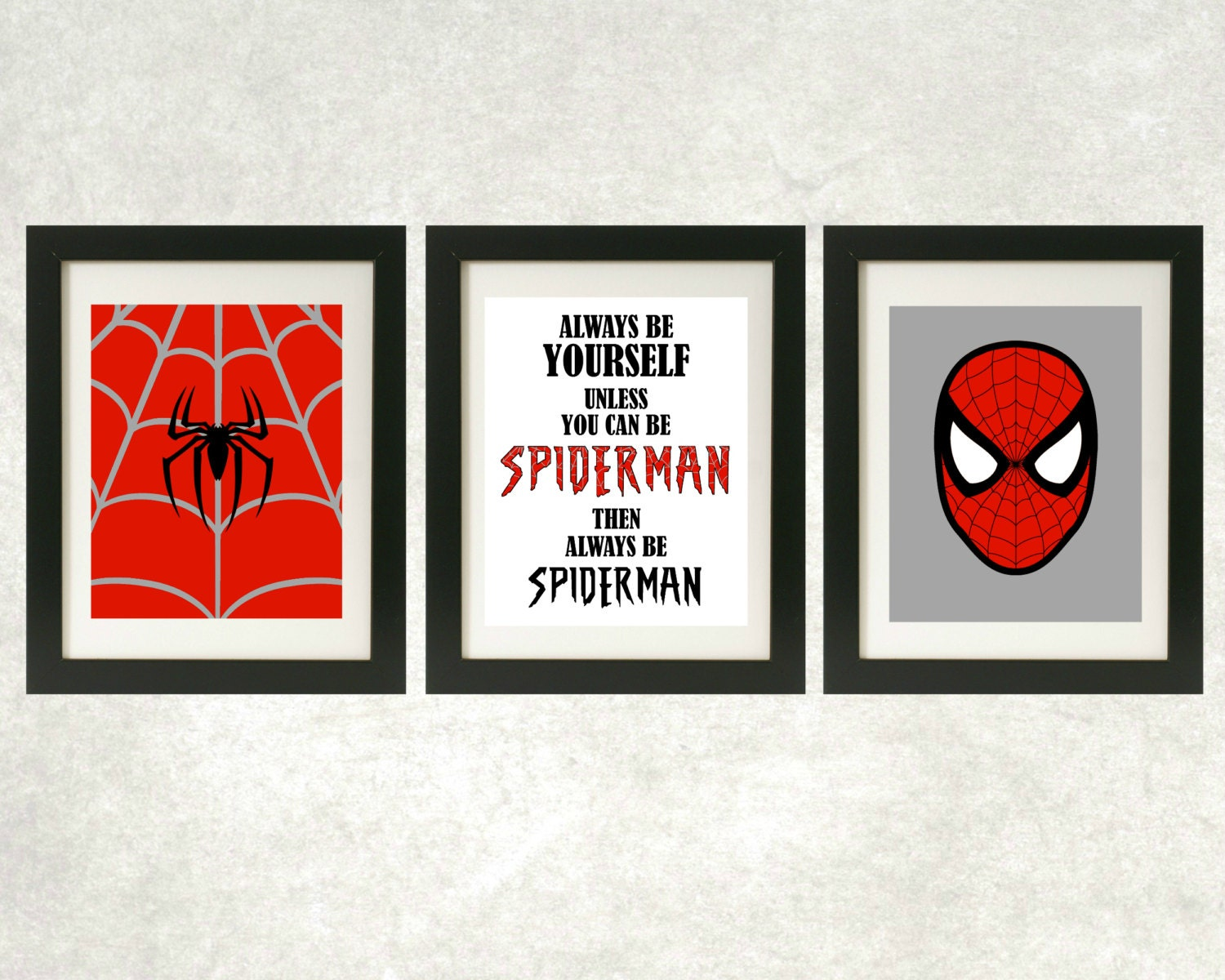 Always Be Spiderman Printables // Spiderman Wall Art // | Etsy
