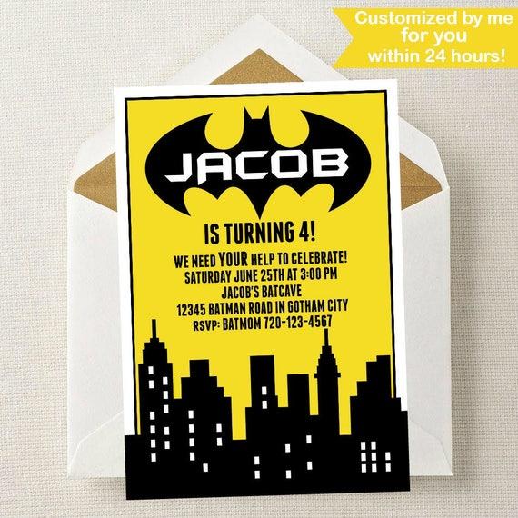 Batman Invitation Party Invite