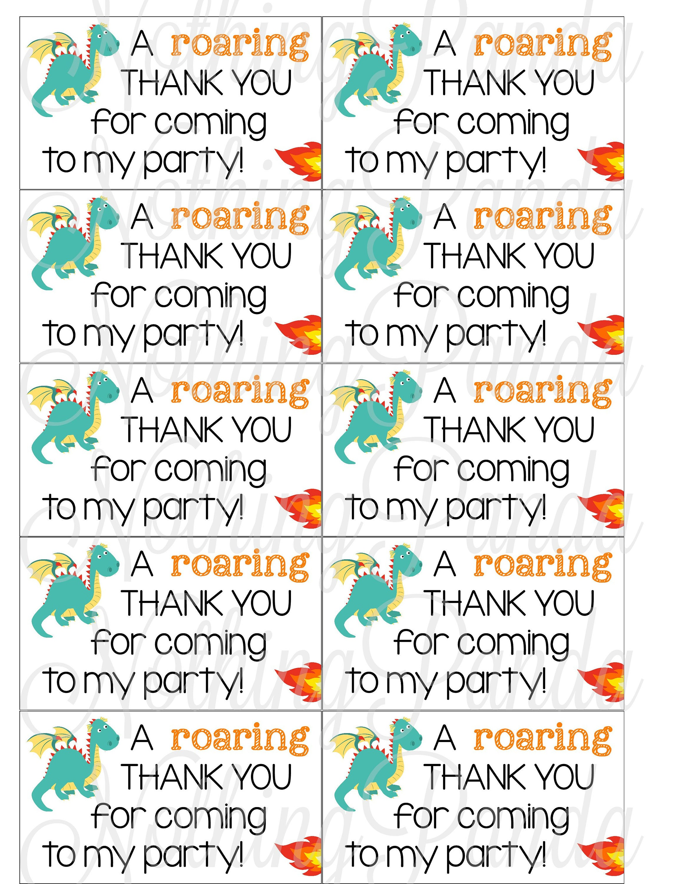 Dragon Party Favor Tags // Dragon Favor Tags // Dragon | Etsy