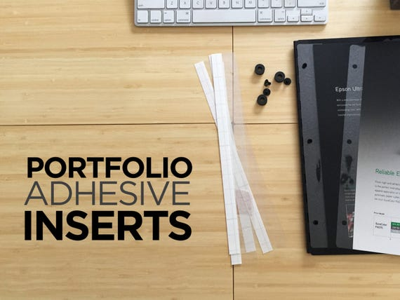 adhesive inserts for screwpost portfolio books available in etsy