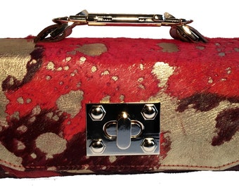 Jazz Acid Wash Orange Mini Constructed Clutch