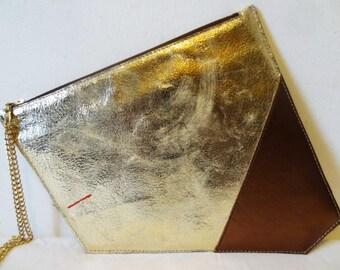 Neryah Gold Asymmetrical Pouch