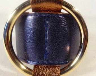 Ring Bracelet / Navy Blue Metallic