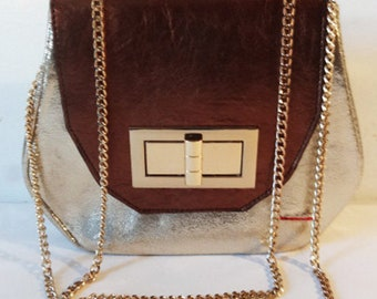 Bernadette Mini Gold Geometric Cross Body
