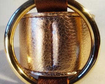 Centered Ring Bracelet / Rose Gold