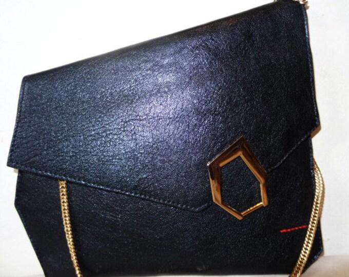 Dania Blue Asymmetrical Clutch