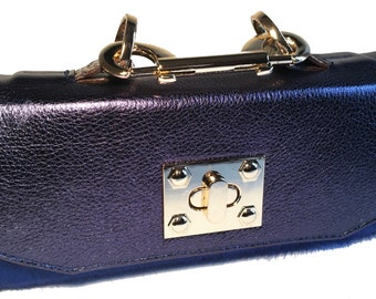 Jazz Mini Constructed Blue Pony Clutch