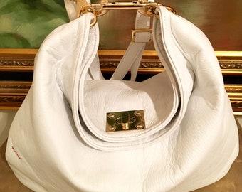 Talia White Hobo Bag