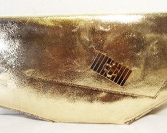 Shema Gold Asymmetrical Clutch