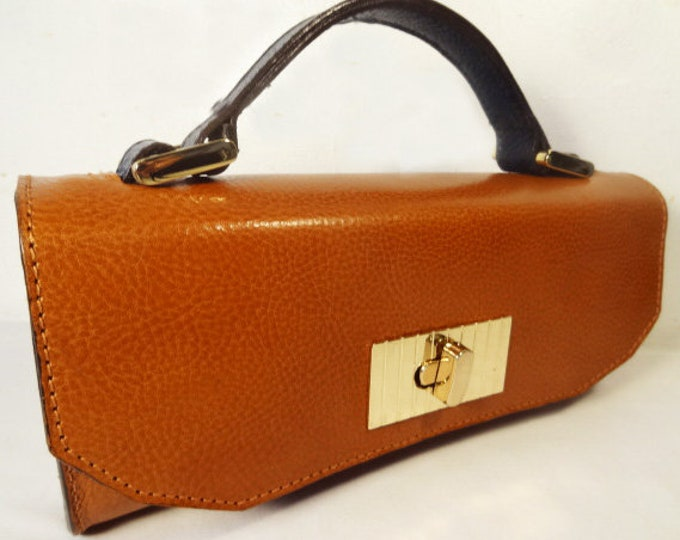 Mini Constructed Camel Leather Bag