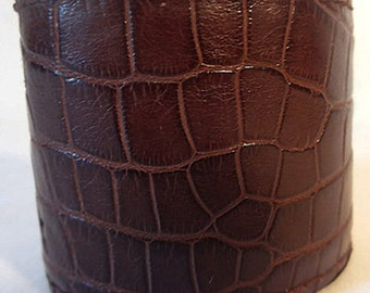 Brown Alligator Cuff