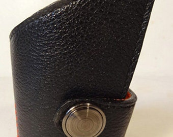 Asymmetrical Black Leather Bracelet