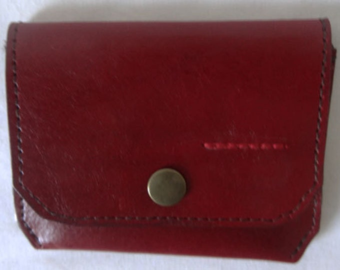Red Leather Credit Card Wallet