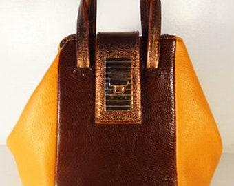 Medium Orange Bucket Bag