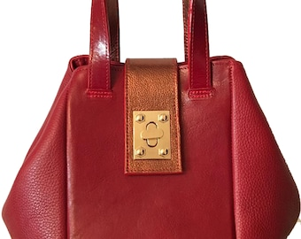 Sabrina Medium Red Bucket Bag