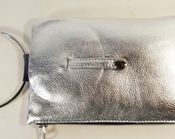 Micale Medium Silver Ring Clutch Bag